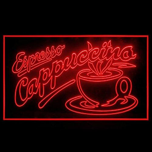 110083 Espresso Cappuccino Italian Coffee Cafe Display LED Light Sign -