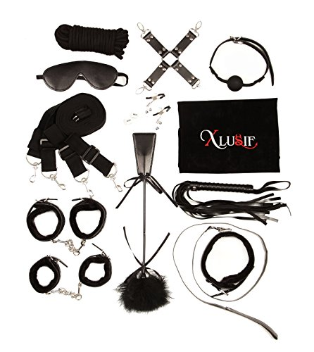 Homemade Braces Costume (XLUSIF 13 piece Anime Villain and Evil Goth Professional Cosplay Kit with Choker, Braces, Leash and Comfortable Faux Fur Cuffs - Perfect for First Time Cosplayers, Adjustable for All, Detailed Costume)