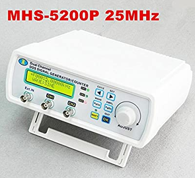 AIKONG Digital Arbitrary waveform generator Dual-channel DDS Signal Generator Function signal generator MHS-5200P 25MHz 20% Off