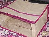 Mufaddal Traders 12pc Oneside Clear Plastic Clothes Sari Saree Garment Storage, saree box cover Bags