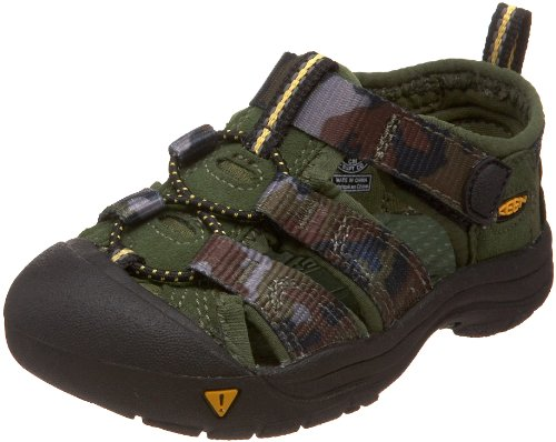 KEEN Newport H2 Sandal (Toddler),Bronze Green Print,4 M US -