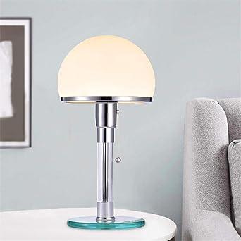 Diseñador de luz LED de mesa Wilhelm Wagenfeld Bauhau Lámparas de ...
