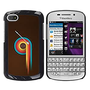 "For BlackBerry Q10 , S-type Colorido Vinilo Retro"" - Arte & diseño plástico duro Fundas Cover Cubre Hard Case Cover"