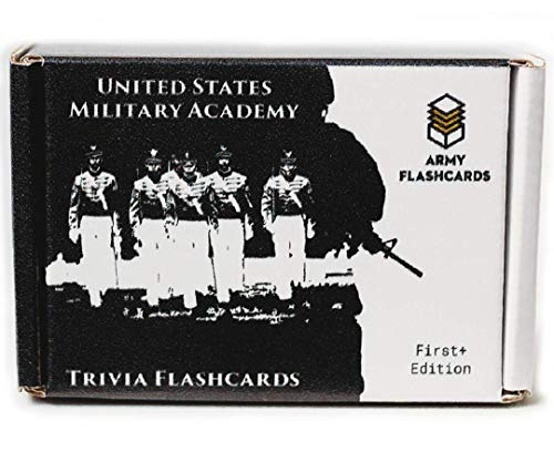 Army Flashcards - United States Military Academy Trivia: West Points Most Interesting Facts, Myths and Legends! | Pack of 100 Trivia Cards | Perfect for Alumni, Cadets, and Visitors | Made in USA