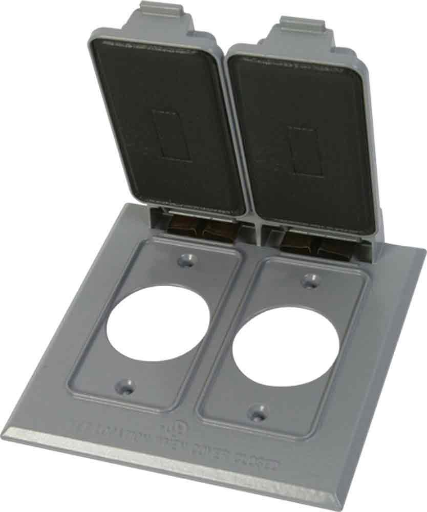 Made in USA Weatherproof Electrical Outlet Box Cover - Gray by Greenfield