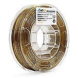 AMOLEN3DPrinterFilament,Bronzefill1.75mmPLAFilament+/-0.03mm, 0.5 LBS Spool,includes SampleMarbleFilament.