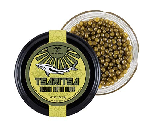 (TSARITSA Fresh Russian Osetra Farmed Sturgeon Caviar - 1 oz )