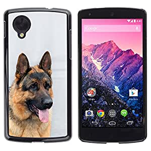 Vortex Accessory Carcasa Protectora Para Lg Google Nexus 5 D820 D821 - German Shepherd Canine Dog King -
