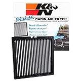 K&N VF3012 filtro de aire para cabina lavable y reutilizable, limpia y refresca el aire entrante para tu Dodge, Jeep