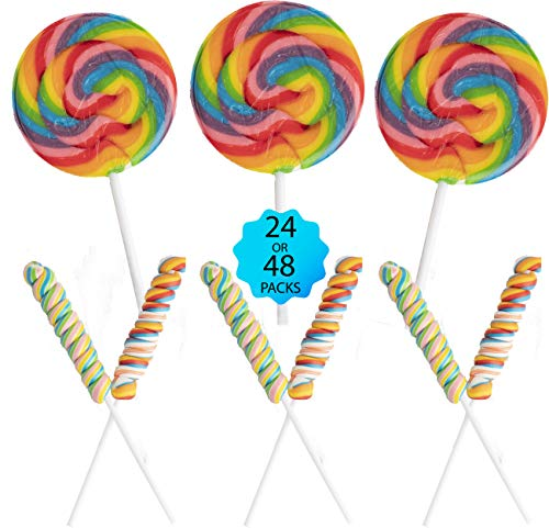 Large Swirl Candy Suckers 4 Pieces Treat Gifts Thank You/'s