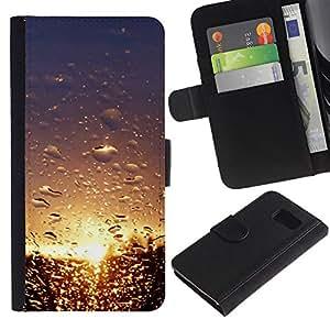 Ihec-Tech / Flip PU Cuero Cover Case para Samsung Galaxy S6 SM-G920 - Sunset Beautiful Nature 101