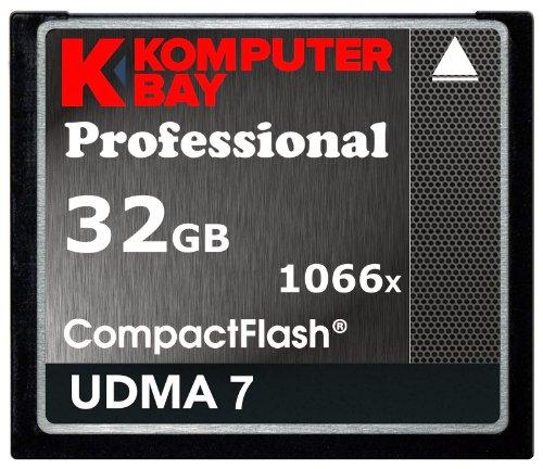 Komputerbay 32GB Professional Compact Flash Carte 1066X CF écrire 155MB/s Lire 160MB/s Vitesse Extrême UDMA 7 RAW