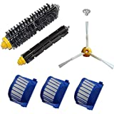 Anboo Aero Vac Filter Brush kit for iRobot Roomba 600 Series 620 630 650 660 585 595 Replacement Roomba Vacuum Cleaning Accessories