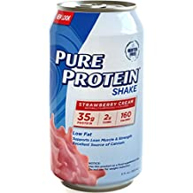 Pure Protein 35g Shake - Strawberry Cream, 11 ounce, 12 count