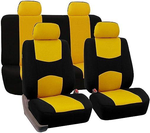 Auto Sitzbezüge Set Universal Auto Schonbezüge Komplettset Vordersitze Und Rückbank Auto Zubehör Innenraum 9 Teilig Auto
