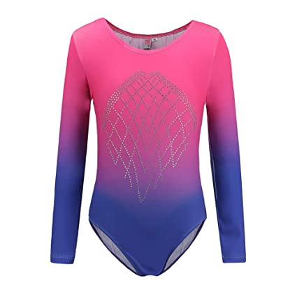 20c9f328d018d Amazon.com : MacRoog Girls' Long Sleeve Leotard Gymnastics Ballet Clothing  Exercise Fitness Apparel Dance Leotards Tights : Sports & Outdoors