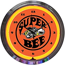 Neonetics Super Bee Neon Wall Clock, 15-Inch