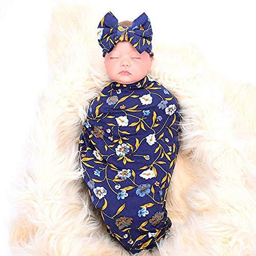 Cartoon Manta Recién 2pcs Dormir Wrap Conjunto Amphia Bebé Saco Nacido Suave Diadema Swaddle De Capa Para Azul Sleeping Bebés dISSZwq