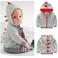 Franterd Baby Boy Girl Dinosaur Pattern Tops Coat, Infant Toddler Hooded Zipp...