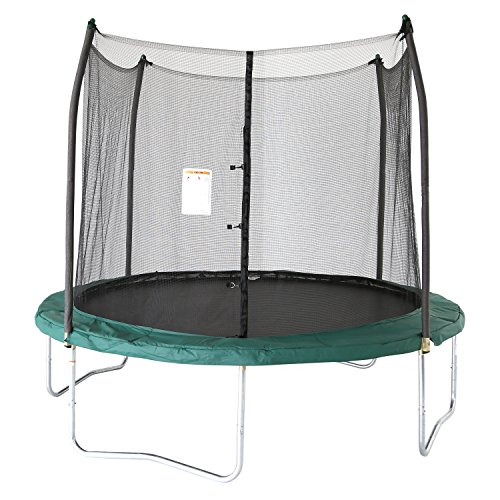 Skywalker Trampolines 10' Round Trampoline and Enclosure with Spring Pad, Green
