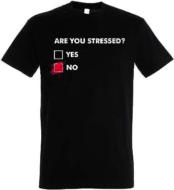 Pampling Camiseta Are You Stressed? - Color Negro - 100% Algodón - Serigrafía