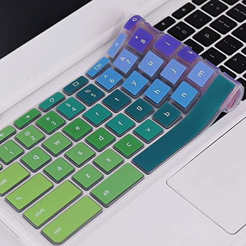 Colorful Keyboard Cover Compatible 2019/2018 Lenovo Chromebook C330 11.6/Lenovo Flex 11 Chromebook 11.6 /Lenovo Chromebook N20 N21 N22 N23 100e 300e 500e 11.6 - Rainbow