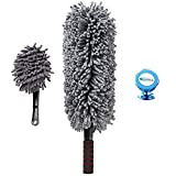 Premium 2 Piece Car Duster Brush Set, Perfect Microfiber Tool for Cleaning Exterior