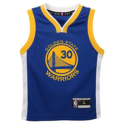 OuterStuff NBA Golden State Warriors Children Boys Replica Player Jersey-Road, Large(7), Blue