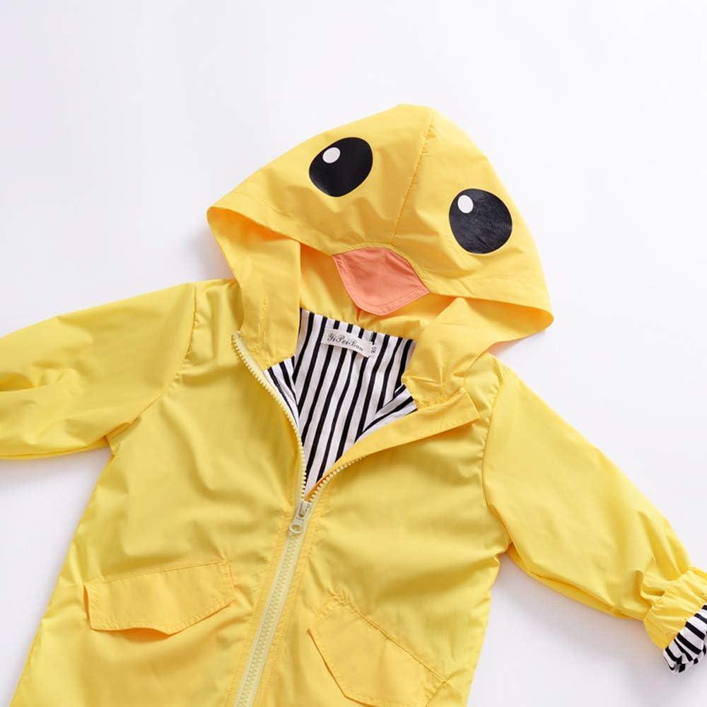 Adorable Toddler Kids Baby Boy Girl Duck Raincoat Cartoon Design Jacket Coat Fall Winter Hooded Outwear School Outfits