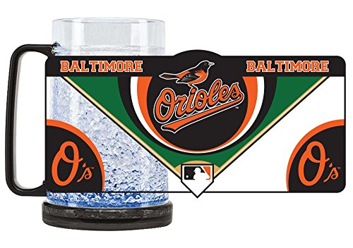 Duck House 1 Pc, Baltimore Orioles Mug Crystal Freezer Style, 16oz, Eye Catching Crystals, State-Of-The-Art Refreezability With Color Coordinated Handle & Base
