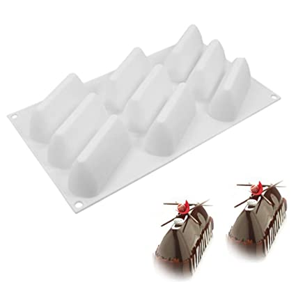 molde silicona montaña, molde de silicona pastel 3d, moldes silicona para postres pudín,