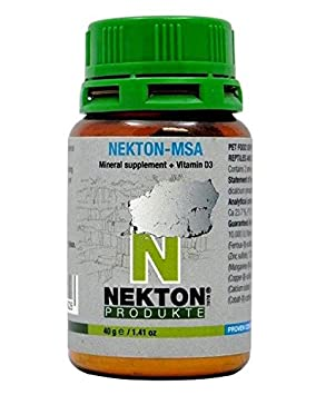 Nekton MSA, vitaminas de 80 g, vit D3 - Vitaminas tortugas