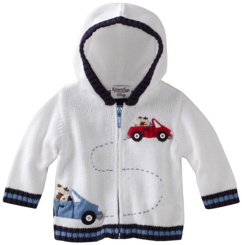 Kitestrings Baby-Boys Newborn Cotton Zip Front Hooded Sweater