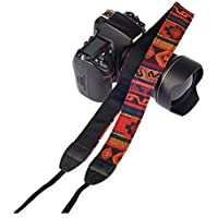 Mavota Colorful Stripe Camera Shoulder Neck Strap Camera Belt For Canon Nikon Olympus Panasonic Pentax Sony SLR/DSLR Digital Cameras