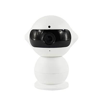 Ryham Mini cámara del robot 960P Dual-HD WiFi inalámbrico IP de vigilancia de seguridad