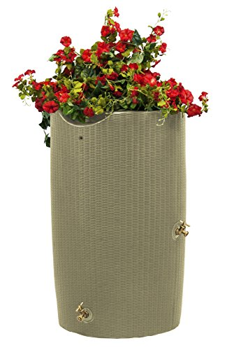 Good Ideas IMP-B50-DES Good Impressions Bali Rain Saver Barrel, 50 Gallon, Desert Sand -