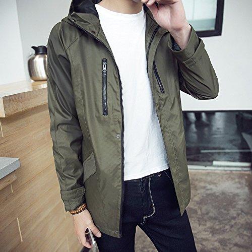 Il Army Giacche Smart Casual m Giovani Di Nell'uomo Cappuccio Paragrafo Lungo Sau E Coreana Uomo Green Menswear Versione Anche Autunno RZwxqpRAT