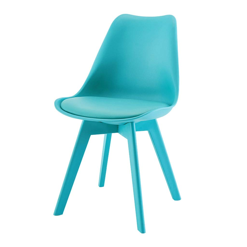 bluee YXYH Nordic Plastic Tulip Dining Chair color Leisure Stool for Office Lounge Dining Kitchen Can Bear 150kg (color   Red)