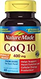 Nature Made CoQ10 (Coenzyme Q 10) 400 mg. Softgels 40 Ct