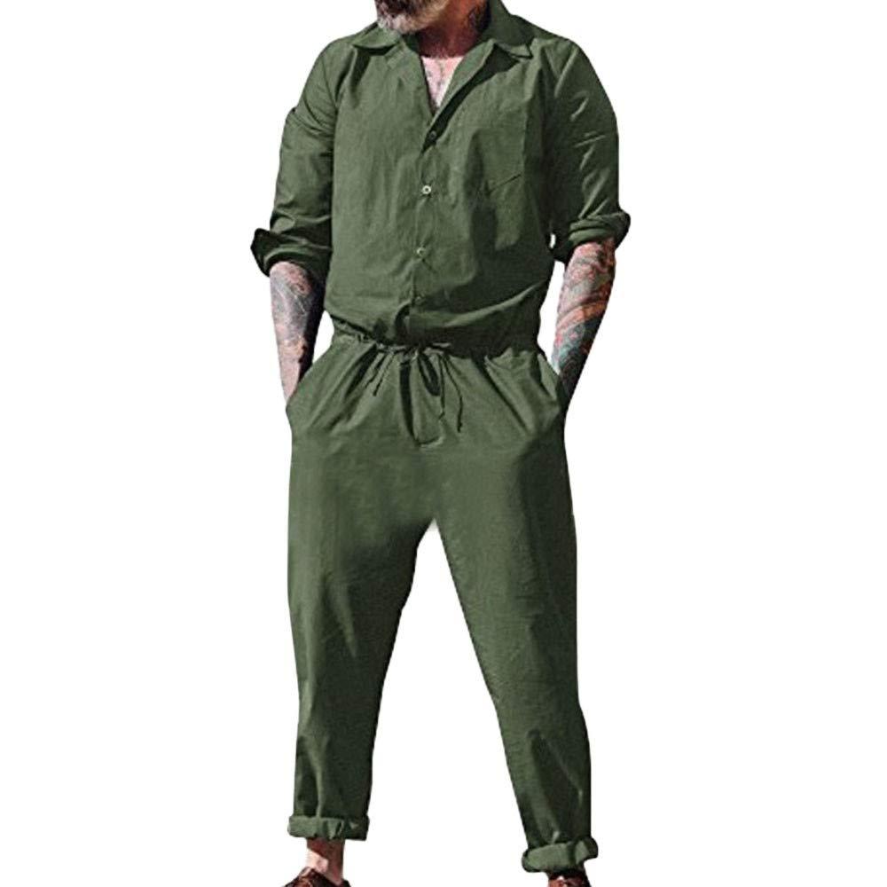 Fionda Gamba Larga Casual Senza Maniche Regolabile Salopette Jeans Moda Tempo Libero Tuta da Uomo A Lunghe con Lunghe da Uomo con Tasche