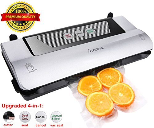 Aobosi Vacuum Sealer Machine 4-in-1 Multi-use Food Saver with Cutter & Sous Vide Vacuum Sealing Bag Roll (Food Grade), Vacuum Packing Machine Ideal for Food Preservation and Sous Vide Cooking
