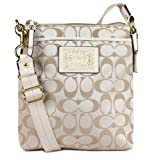 Coach Daisy Signature Sateen Swingpack Crossbody 48130 Light Khaki, Bags Central