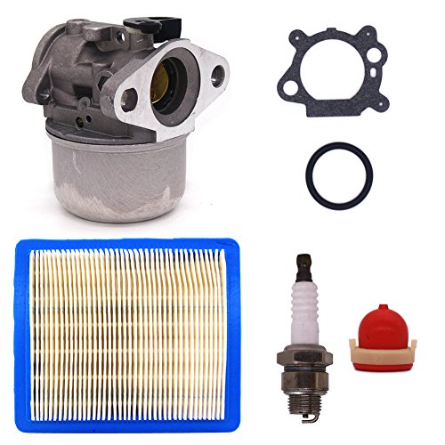 (FitBest New Carburetor 799868 with Air Filter Spark Plug replaces Briggs & Stratton 498170 497586 498254 497314)