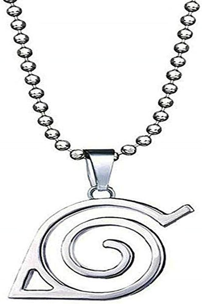 Yozone Naruto Necklace Leaf Necklace Leaf Village Symbol Logo Double Brand Pendant Necklace