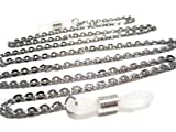 ATLanyards Flat Ovals Chain Eyeglass Holder - Stainless Steel Eyeglass Chain