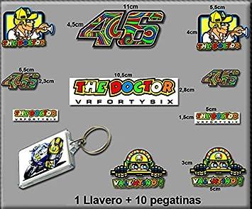 PEGATINAS Y LLAVERO 46 VALENTINO ROSSI THE DOCTOR AM10 ...