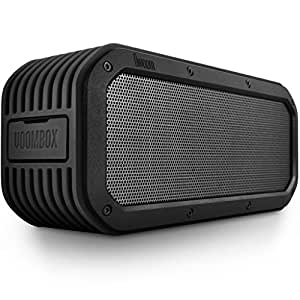 Divoom Voombox-Outdoor Water Resistant Bluetooth Portable Speaker with Mic for Smartphones - Retail Packaging - Black