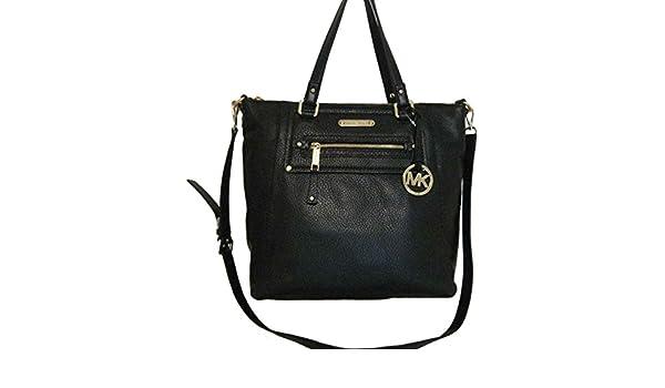 91b0870774ec Amazon.com: Michael Kors Gilmore Large Convertible Black Leather Tote  Shoulder Bag Satchel: Shoes