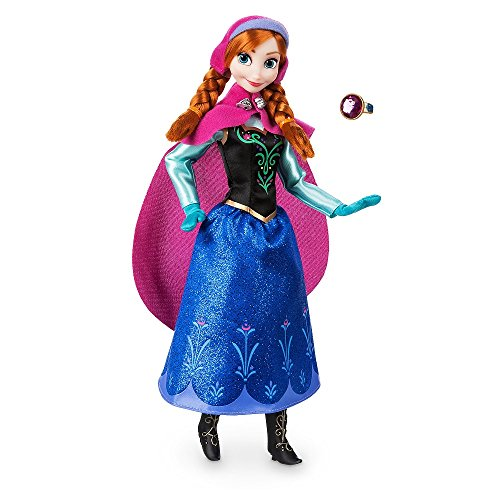 Disney Store Anna Classic Doll with Ring - Frozen - 11 1/2'' 2018 Version (Size Frozen Elsa Doll My)