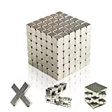 Magnetic Cube 5mm,XHJKZ 216 PCS Magnets Blocks Education Toy Children's Puzzle  Square Cube Stress Relief for Intelligence Development for Kids